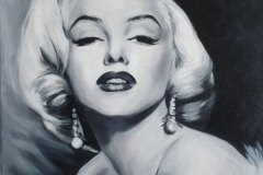 Marilyn Monroe,	40x50 cm,	õli, lõuend 	2011	 Prices 380.-€